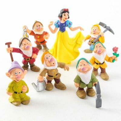 New 8Pcs/Set Snow White and the Seven Dwarfs Action Figure Doll Playset Kids Toy