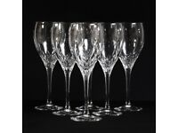 Sparkling Clear Cut Cristal JG Durand Capella French Wine Glasses