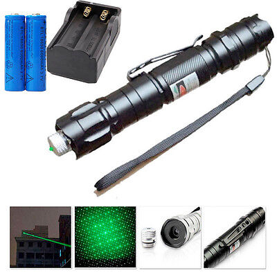 Powerful Green Laser Pointer Pen Beam Light 5mW Lazer Power 532nm+18650+Charger on Rummage