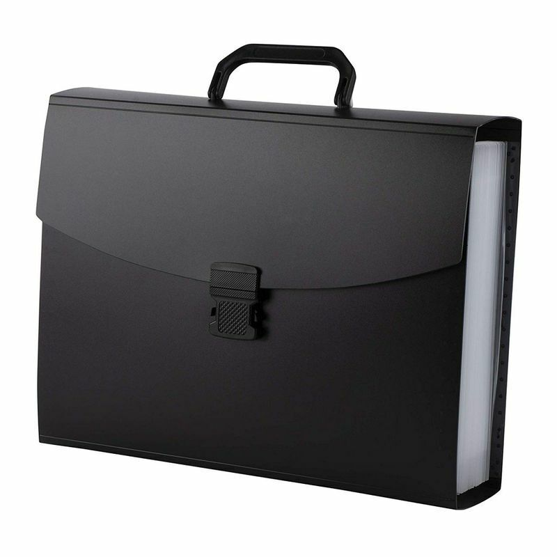 25-Pocket Expanding File Folder - Accordion Folder File Wallet Briefcase
