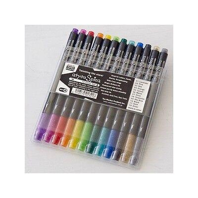 Copic Atyou Spica Glitter Pens 12 Piece Colors Set A Letters Cards scrapbookin