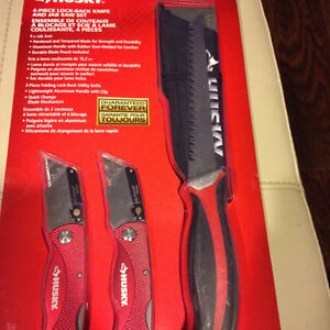 Husky 4 piece lock-back knife and jab saw set