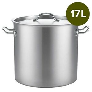 Brand New 17Lt Top Grade Thick Stainless Steel Stock Pot 28CM 18/10 RRP $205