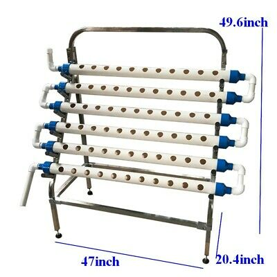 Home Garden System:Hydroponic Site Grow Kit 66 Holes with Stainless Steel -