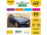 Blue BMW 116d M Sport 5 door Diesel 78Mpg 2015 FROM £62 PER WEEK!