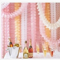 3.6m Hanging Tissue Paper Clovers Garland String Garden Wedding Party Decoration - unbranded - ebay.co.uk