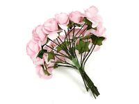 miniature pink roses cardmaking or scrapbooking