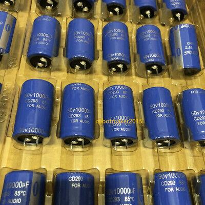 2 Pins 10000uf 10000mfd 50v 3050 Electrolytic Capacitor Cd293 Series 85