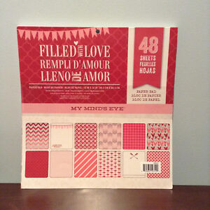 FILLED WITH LOVE PAPER SCRAPBOOK PAD.....NEW!
