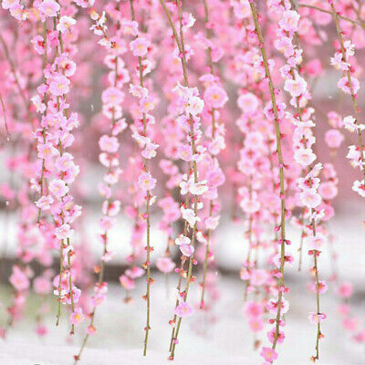 2M Artificial Flower Cherry Blossom Wedding Garland Vine Leaf Hanging Decor - Cherry Blossom Decorations