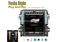 12.1'' Tesla Style Vertical HD Screen Android 6.0 Car GPS Navigation For Toyota Fortuner 2016 2017