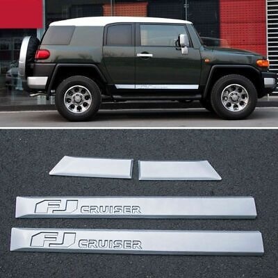 New Side Door Body Molding ABS Trim Plate Cover For Toyota FJ Cruiser 2006-2016