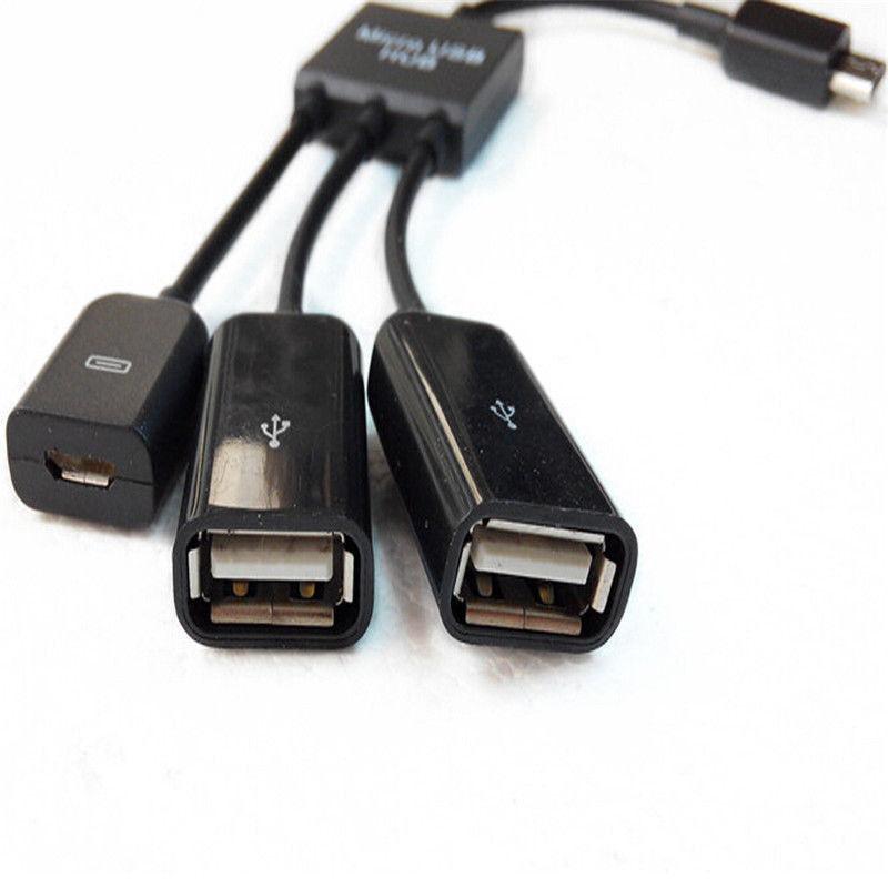 3 in 1 Micro USB 2.0 OTG Hub