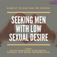 Seeking men with low desire for PAID, ONLINE study!