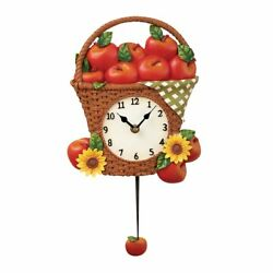 Country Apple Picnic Wall Clock, by Collections Etc