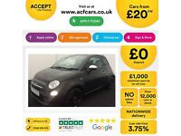 Fiat 500 1.2 8v ( 69bhp ) BlackJack FROM £20 PER WEEK!