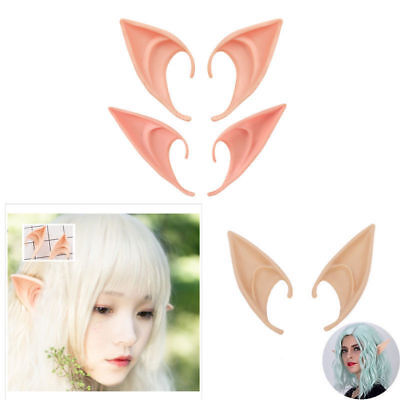 1 Pair Angel Elf Ear Halloween Costume Props Cosplay Accessories Latex False Ear (Elf Ear)