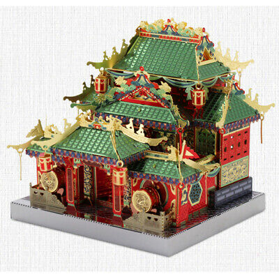 MU Chinese Kongfu Build Architecture 3D Metal Model Kits DIY Assemble Puzzle Toy - Architecture Model Kits