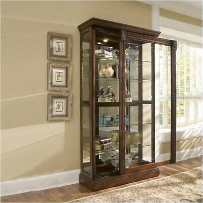 Bowery Hill Cherry Curio Cabinet Cherry Curio Cabinets