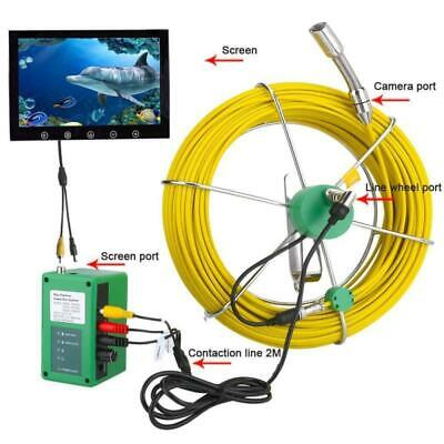 30m Pipe Inspection Video Camera 6w Led Light Drain Pipe Sewer Inspection System