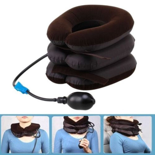 Air Inflatable Pillow Cervical Neck Head Pain Traction Support Brace Device ca