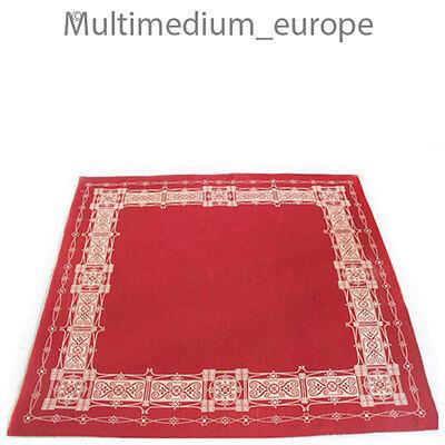 rote Jugendstil  Decke mit Ornament Motive um 1900
