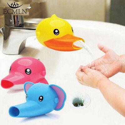 Tub Fun Animal (Animals Faucet Extender Kids Happy Fun Tubs Baby Hand Washing Bathroom Sink New )