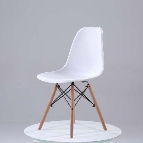 Dettagli Su 4x Sedie Sala Da Pranzo Eiffel Retro Style Nordic Design Nero Bianco