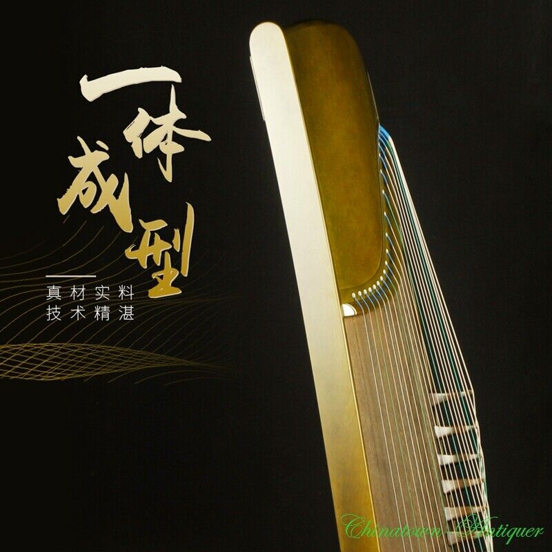 Whole Digging Chinese 21-String GuZheng Zither Harp Koto Phoebe Zhennan 挖箏 #2951