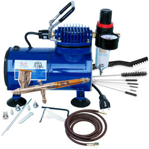 Gravity Feed Air Brush Kit Complete with Compressor