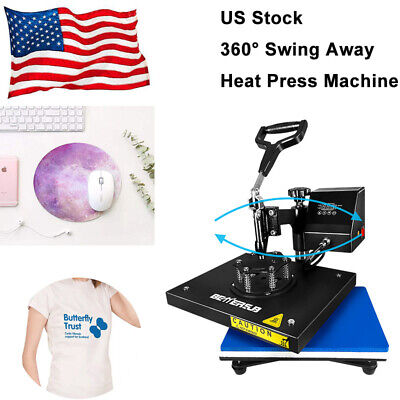 Digital Heat Press Machine Swing Away 9x12 Transfer Printing Diy T-shirts Mats
