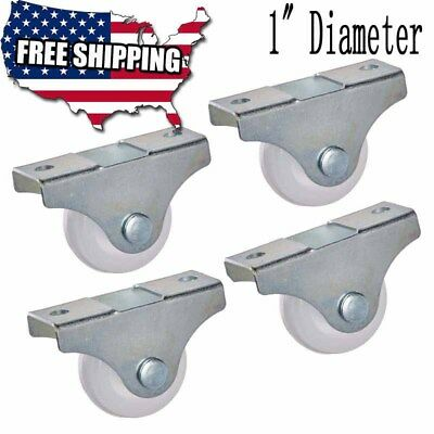 Furniture Trolley Rack 1 Inch Dia Metal Top Plate Silent Pvc Fixed Caster Wheel