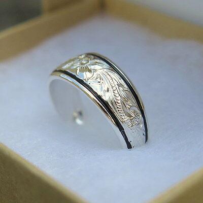 Hawaiian Jewelry Scrolling Silver Plumeria Flower Two Bolder Toe Ring TR1191