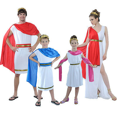 Greek God Toga Fancy Dress Costume Rome Roman Emperor Caesar Mens Outfit (Caesar Outfit)