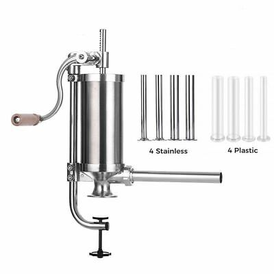 Manual Meat Sausage Stuffer Stainless Steel Maker Press Syringe Kitchen Tools