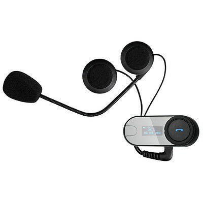 TCOM-SC Bluetooth Motorcycle Helmet  Intercom Headset with 2pcs Soft Earpiece