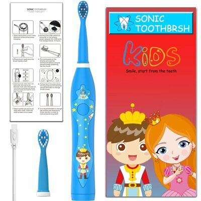sonic Electric Rechargeable by USB Kids child Toothbrush waterproof soft bristle