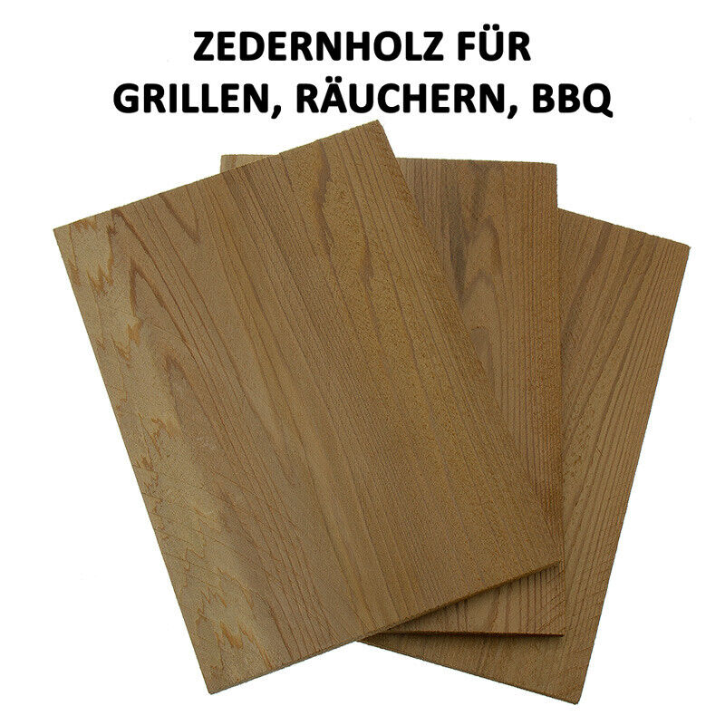 Zedernholzbrett Smoky, Räucherbrett, Grillplanke Räucherplanke KLEIN + SETs TOP!