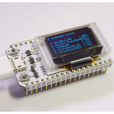 ESP32 WIFI chip 0.96 inch OLED Bluetooth WIFI Kit CP2102 32M module for arduino