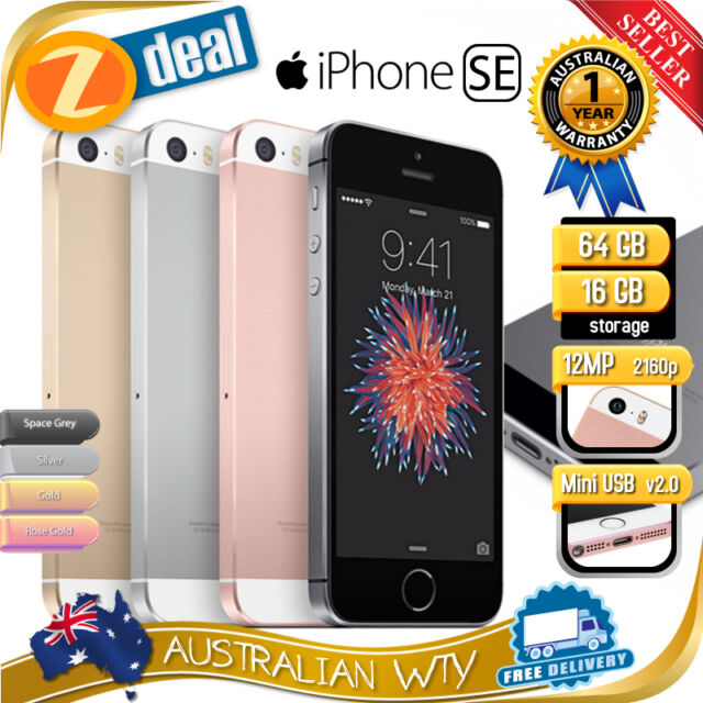 (NEW SEALED BOX) APPLE iPHONE SE 16GB 64GB FACTORY UNLOCKED + 12MTH OZ WTY (NNU)