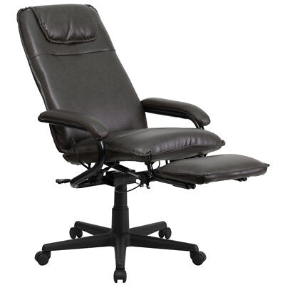 New High Back Brown Leather Executive Reclining Office Chair