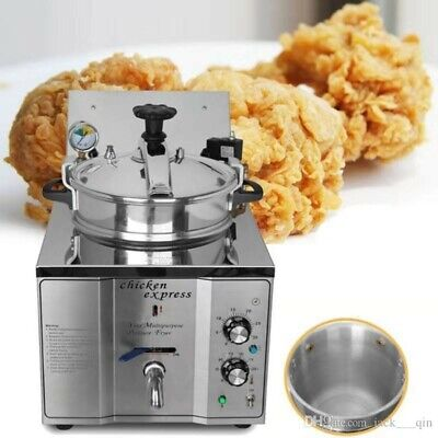 Chicken Express - Commercial Home - 3000w Electric 16l Pressure Deep Fryer
