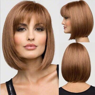 Damen Bob Kurz-Haar Perücke Glatt Natürlich Gesträhnt Prettyland - Natürliche Blonde Perücke