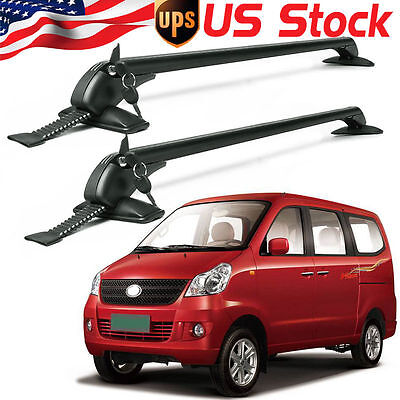 2x Universal of  Auto SUV Car Roof Top Cross Bars Luggage Cargo Rack Aluminum