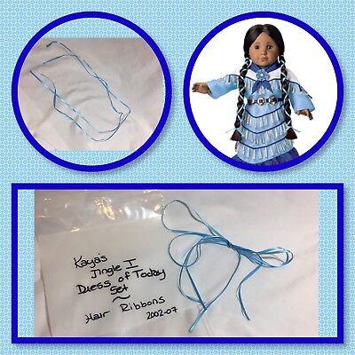 American Girl Kaya Jingle I Dress Set, Pair Of Hair Ribbons Only, Retired 2007