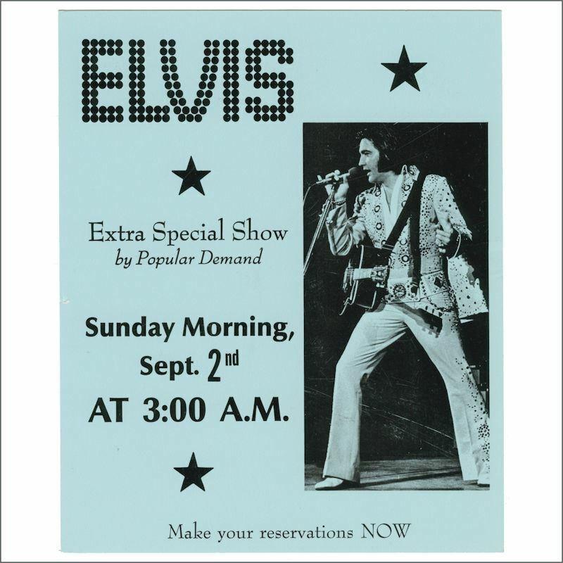 Elvis Presley 1973 Hilton Las Vegas Concert Handbill (USA)