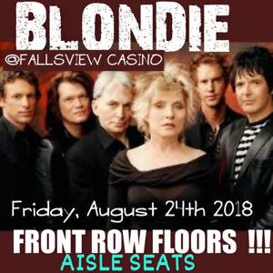 BLONDIE @FALLSVIEW CASINO-AMAZING FRONT ROW FLOOR TICKETS & MORE