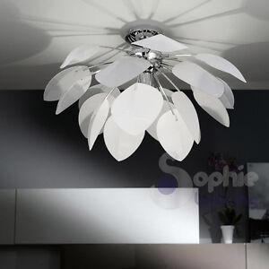 caricamento dellimmagine in corso lampadario moderno acciaio cromato plafoniera soffitto salone cucina
