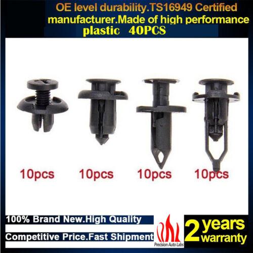 TAOHOU 415Pcs Universal Car Trim Molding Clips Push Pin Remache Remaches Kit de retenci/ón Negro