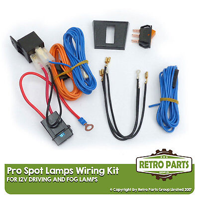Driving/Fog Lamps Wiring Kit for Aixam. Isolated Loom Spot Lights
